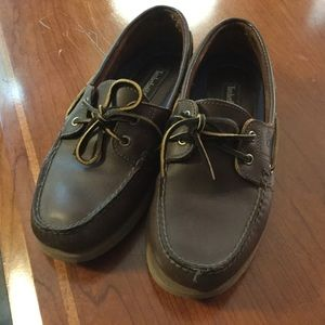 Timberland dark brown boat shoes sz 9 🕶 ⚓️🛥